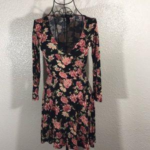 Forever 21 Floral Wrap Skater Dress
